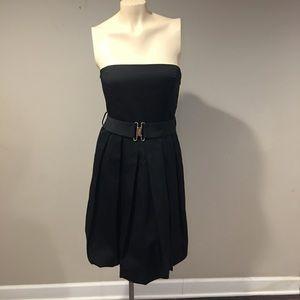 Zara Basic Lil Black Dress Strapless Bubble Skirt